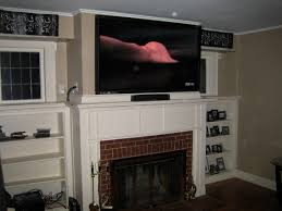 top mount flat screen tv over fireplace home decor interior exterior amazing simple under mount flat