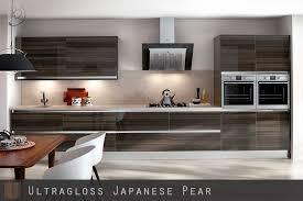 high gloss woodgrain japanese pear kitchen doors