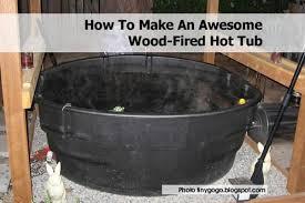 make awesome wood fired hot tub