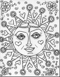 Small Picture surprising hard flower coloring pages for adults with hippie