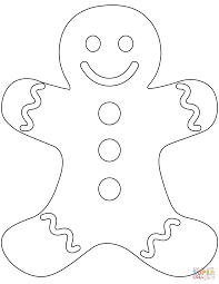 Plain Gingerbread Man coloring page | Free Printable Coloring Pages