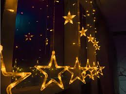 Outdoor Decor Company Outdoor Pentagram String Lights Cool Fairy String Silver Star