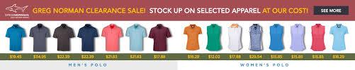 Greg Norman Mens Polo Clearance Sale Golfio