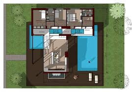 image for modern house floor plans with swimming pool