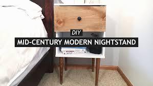Diy Nightstand Diy Mid Century Modern Nightstand Youtube