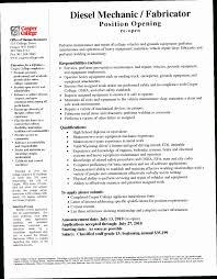 Diesel Mechanic Resumes Diesel Mechanic Resume Crxh Excellent Ideas Diesel Mechanic Resume