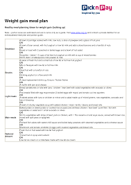 Weight Loss Menu Planner Template Diet Health Archives Page 17 Of 28 List Deluxe