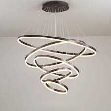 multi light pendant adjule height 4 light 5 light diy ring led pendant light aluminum