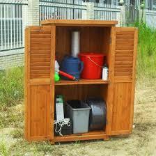 wooden tool shed outdoor garden storage
