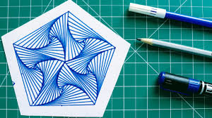 How To Draw Single Pattern Design How To Draw Single Pattern Design Design 9 Simple Geometric Design Rainbow Art By Radhapada