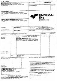 Example Of Bill Of Lading Document Sample Documents