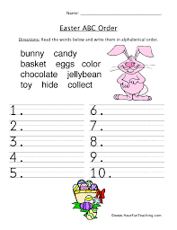 Easter ABC Order Worksheet | Have Fun Teaching
