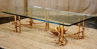 bamboo modern furniture. Beautiful And Charming Gold Bamboo Glass Coffee Table Modern Furniture