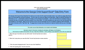 Child Support Worksheet Ga Free Worksheets Library | Download and ...