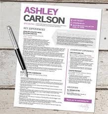 The Ashley Resume Template Design Graphic Design Marketing Sales Customer  Service.