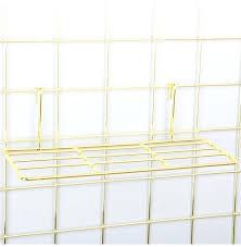 grid panel display popular gold straight shelf rack for grid panel wall mountable wire organizer storage flower pot metal grid panel wall display grid panel
