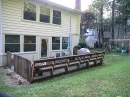 wood deck wood deck over concrete pressure treated wood is no