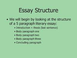 formal essay writing english di summative assignment % of your  3 essay structure we will begin by looking at the structure of a 5 paragraph literary essay introduction thesis last sentence body paragraph one body