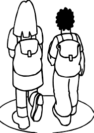 Small Picture Girl And Boy Going To School Coloring Page Wecoloringpage