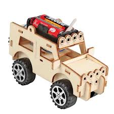 Remote Control Science Experiment Toys <b>Electric</b> Wooden Robot ...