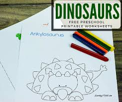 Dinosaurs Free Preschool Printable Worksheets