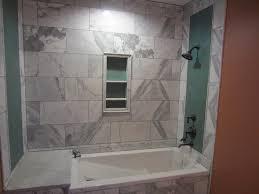 before bathtub frameless glass enclosure
