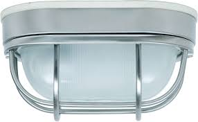 craftmade z396 56 bulkhead stainless steel outdoor small flush mount ceiling light fixture wall loading zoom