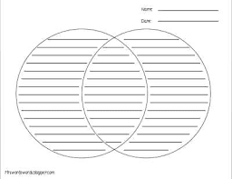 Free Venn Diagram Template With Lines Blank Venn Diagram Pdf Andeshouse Co