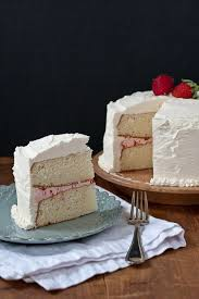 White Cake With Strawberry Filling And Strawberry Vanilla