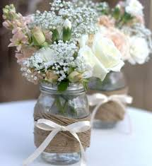 Glass Jar Table Decorations Woodsy Weddings Nature is a cathedral Great ideas for home 18