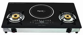 Gas Cooktop Glass Buy Pigeon Rapido Hybrid 2100 Watt Induction Cooktop Online At Low