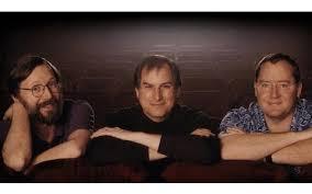 john lasseter steve jobs.  Steve Ed Catmull Jobs And John Lasseter With Steve