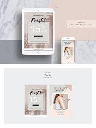 2 Psd Marketing Templates Fashion Newsletter Design