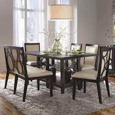 dining room table with upholstered bench. Najarian Planet Six Piece Contemporary Dining Table And Chairs Set With Upholstered Bench Room