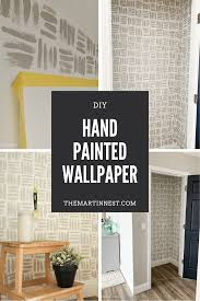 Hand painted wallpaper, Accent wall