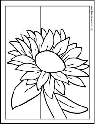 There is a mix of difficulty, from cute pictures for toddlers and preschoolers to more. Sunflower Coloring Page 14 Pdf Printables