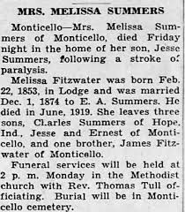 Obituary for MELISSA SUMMERS - Newspapers.com
