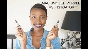 <b>MAC SMOKED PURPLE</b> VS INSTGATOR LIPSTICK   BEAUTY ...