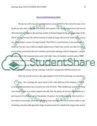 pacs system solution essay example topics and well written related essays