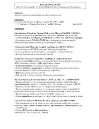 Lab Technician Resume St Ca O Assistant Microbiology Sample