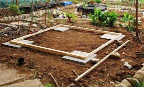 prepare ground for the new shed