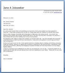 Au Pair Cover Letter Sample Sample Resume Cover Letter