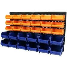 Pegboard storage bins Garage Storage Wall Amazoncom Pegboard Storage Bins Tigerbytes