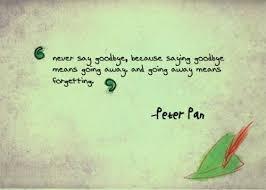 Goodbye Quotes Peter Pan