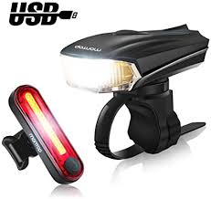 Waterproof LED Bike <b>Bicycle Headlight taillight</b> Front Rear Lamp ...