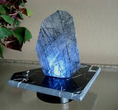 Gem Display Stands Black And White Marble Lighted Display Stand New Exclusive LED 32