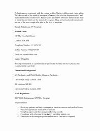 Pediatrician Resume Sample Pediatrician Resume Sample Luxury Pediatric Doctor Resume Sample Job 4