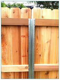 Metal Fence Post For Wood Fence Wood Fence Steel Posts