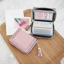 <b>Korean</b>-<b>Style</b> Cute <b>Multi</b>-<b>Purpose Card Holder</b> Zip Mini Name Card ...