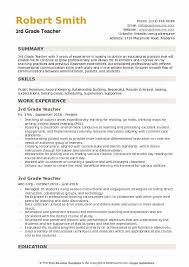 40rd Grade Teacher Resume Samples QwikResume Awesome Grade Resume